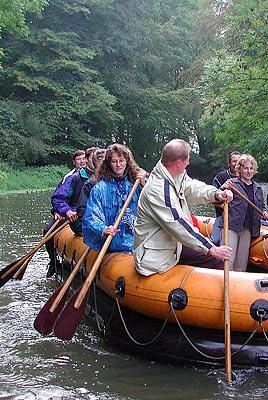 Schlauchboot-Tour auf der Hase